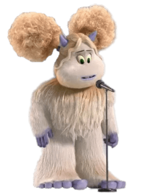 Smallfoot Girl Yeti Singing transparent PNG.