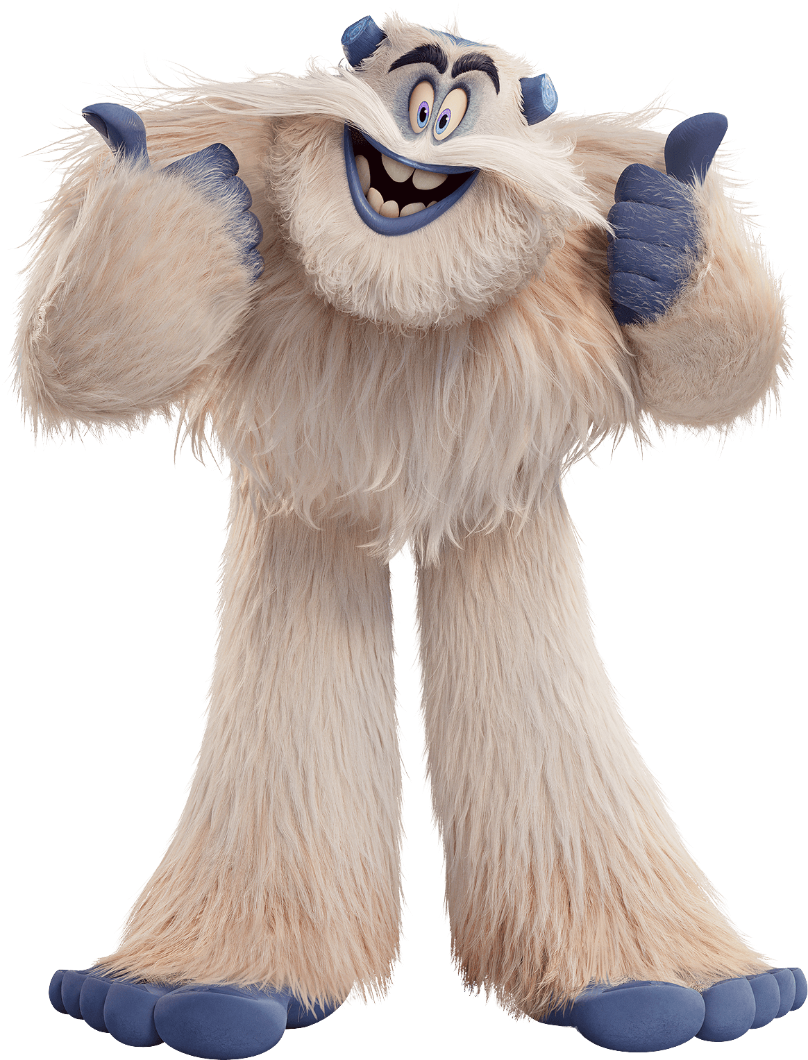 Smallfoot Dorgle Yeti Thumbs Up transparent PNG.