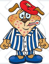 Chicken pox clipart.