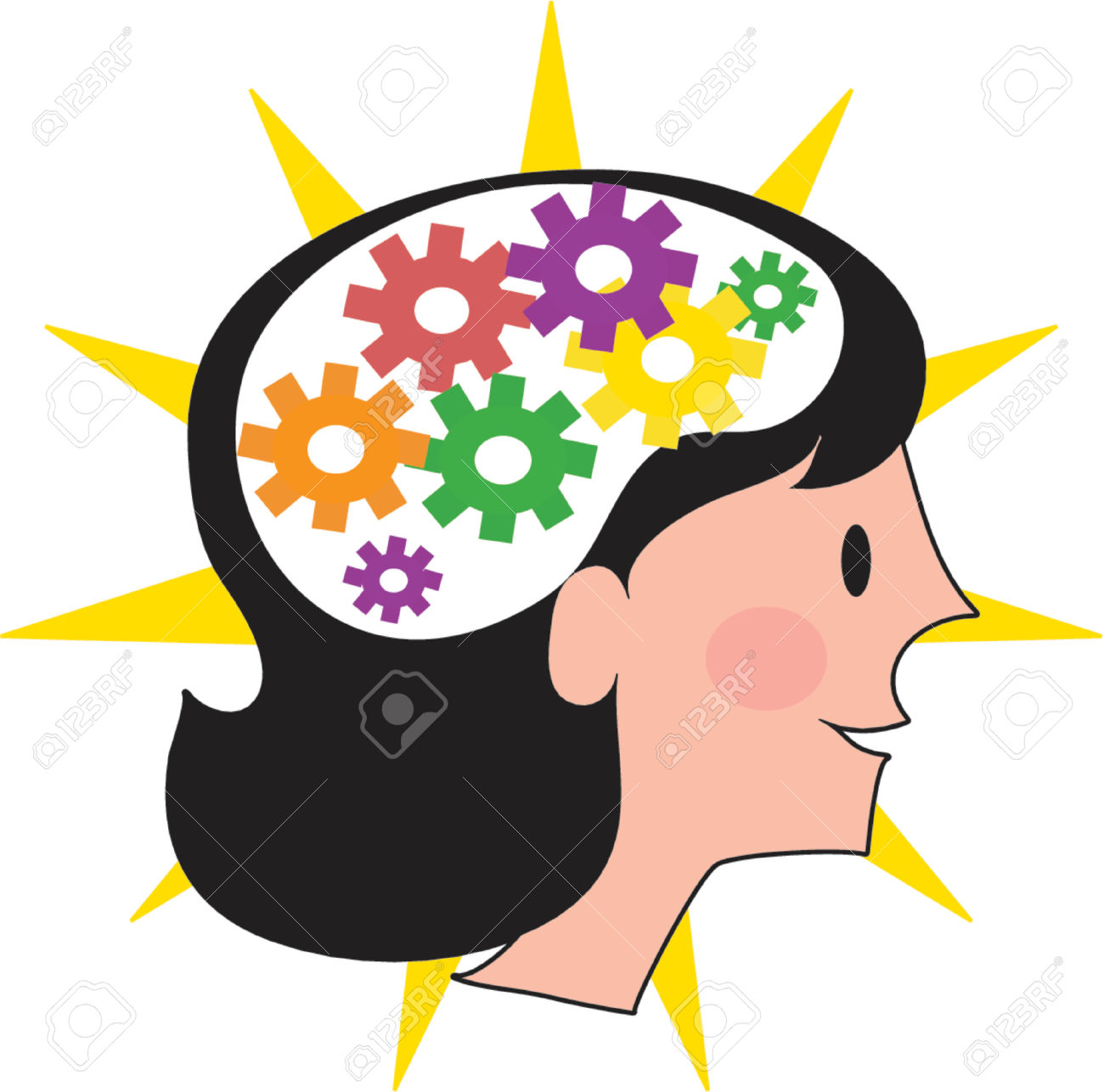 Smart brain clipart 8 » Clipart Station.