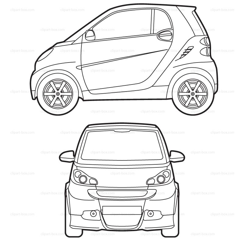 Umbrella Clipart Black And White Smart cabriolet clipar...