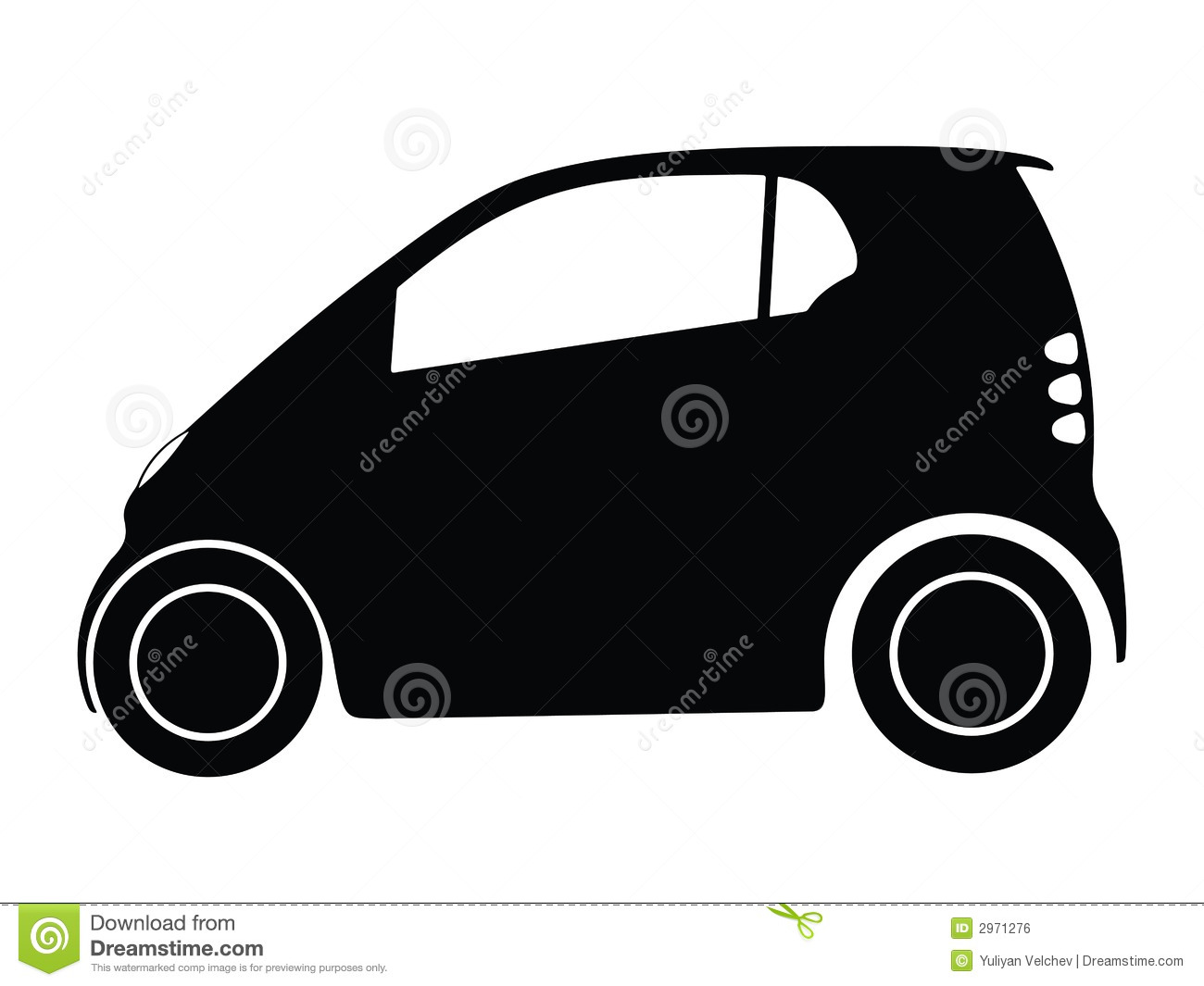 Smart Car Stock Illustrations.