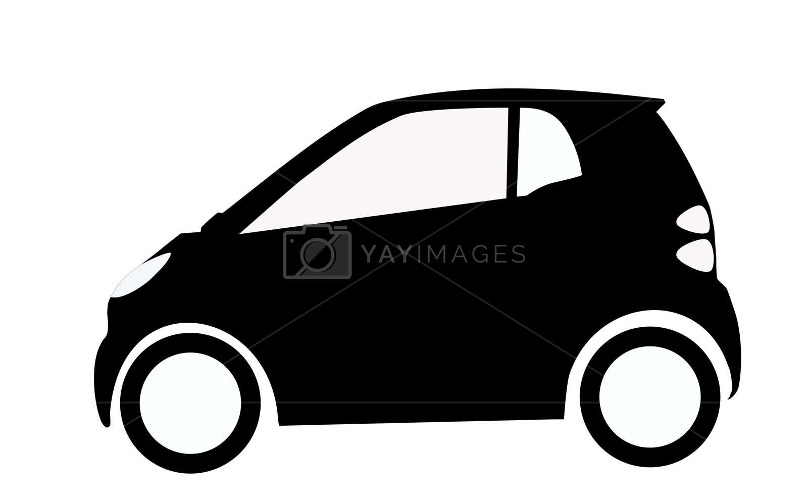 smart car silhouette Stock Image.
