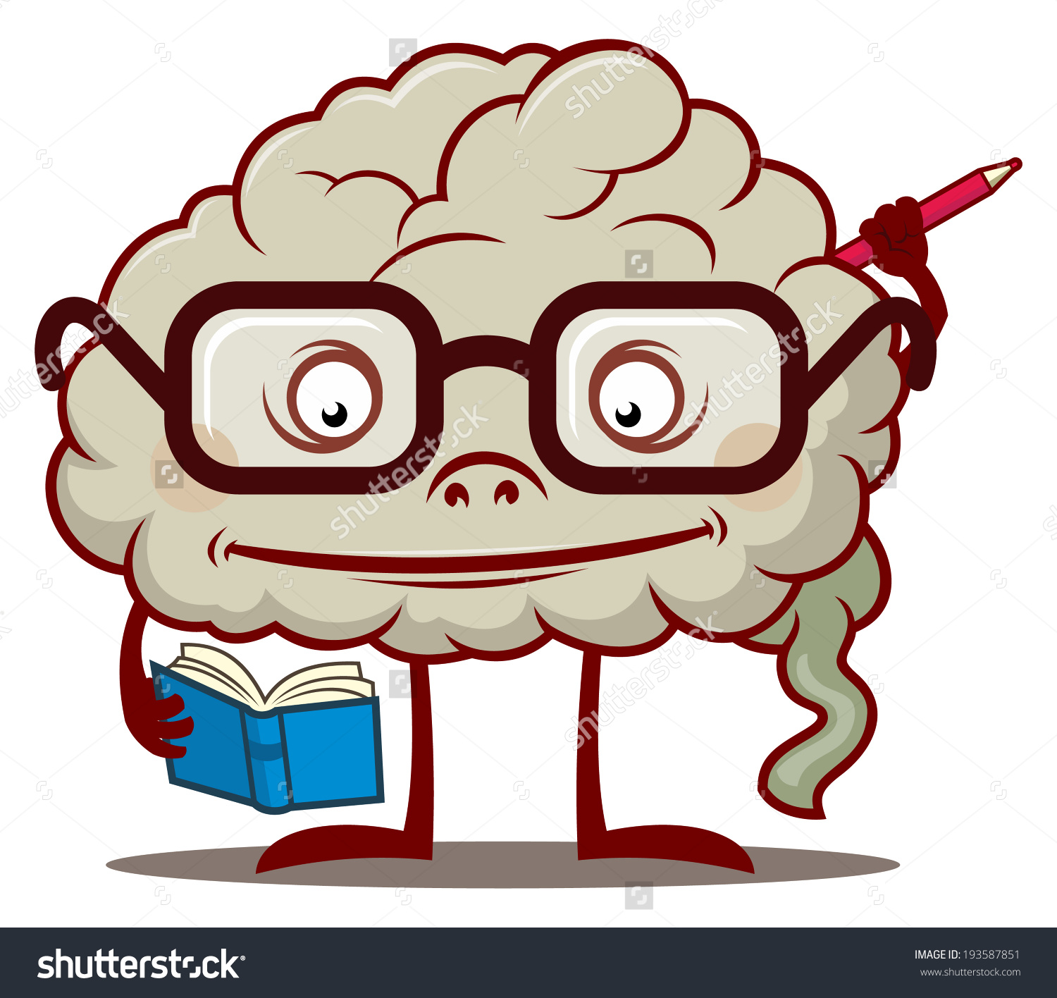 Showing post & media for Cartoon smart brain clip art.