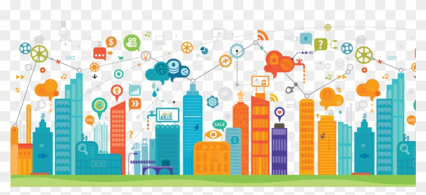 Internet Of Things In Smart Cities , Png Download.