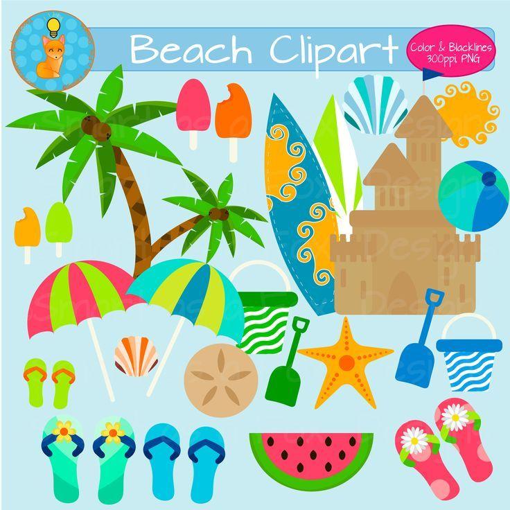 Summer Beach Clipart.