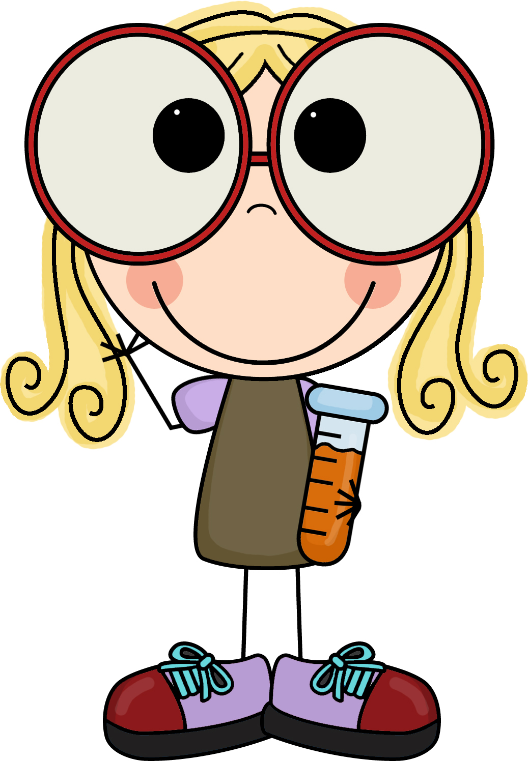 Smart Girl Clip Art.