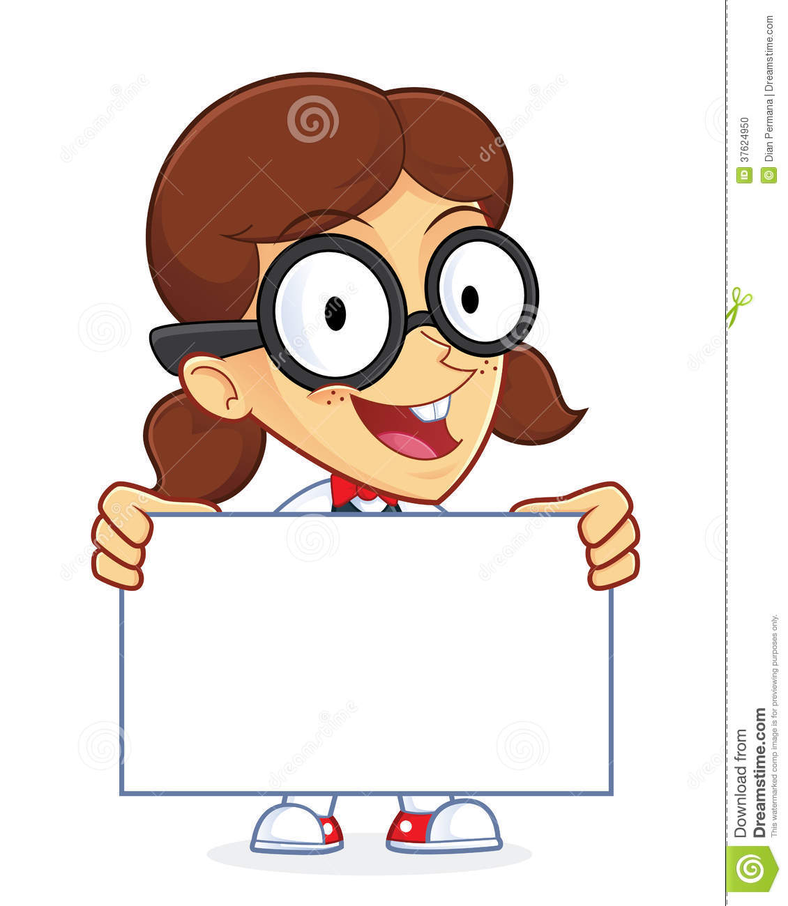 Smart Girl Clipart.
