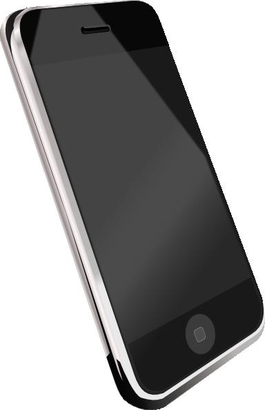 Modern Cell Phone Clip Art at Clker.com.