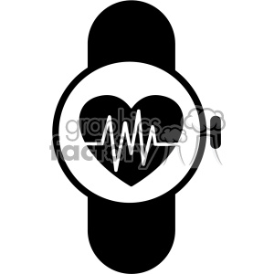 smart watch ekg vector icon . Royalty.