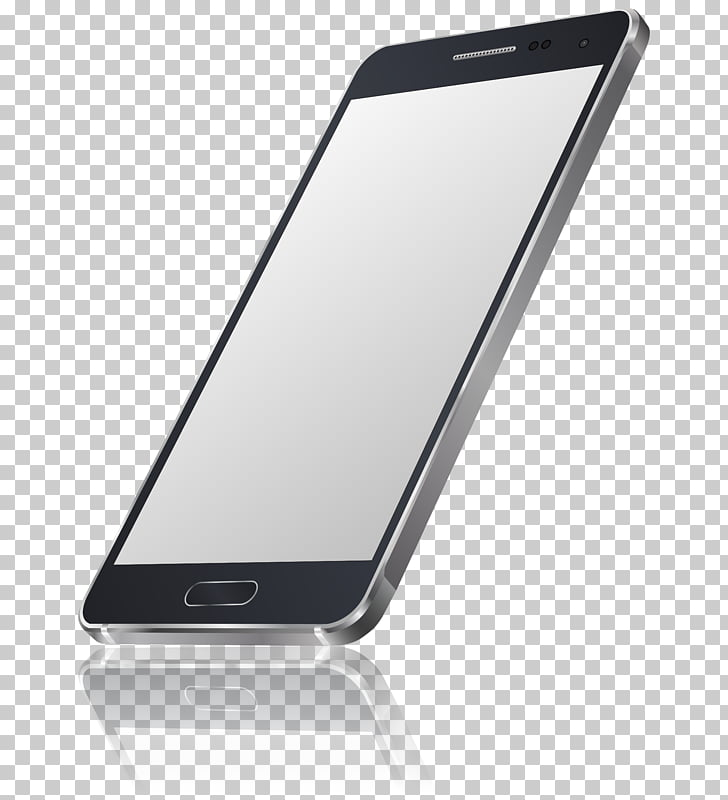 Smartphone , Black phone PNG clipart.
