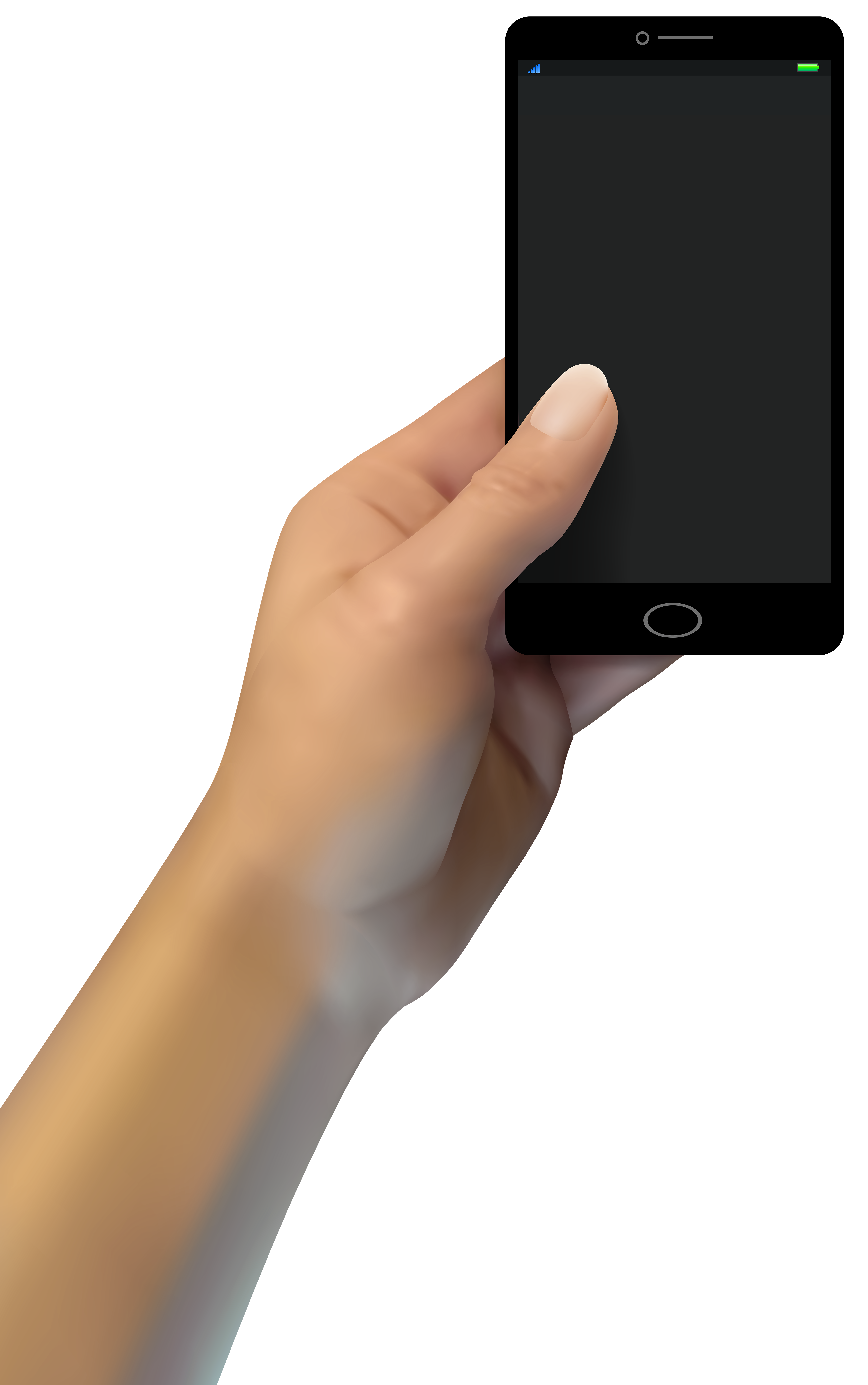 Hand with Smartphone PNG Clip Art.