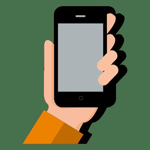 Smartphone on hand.