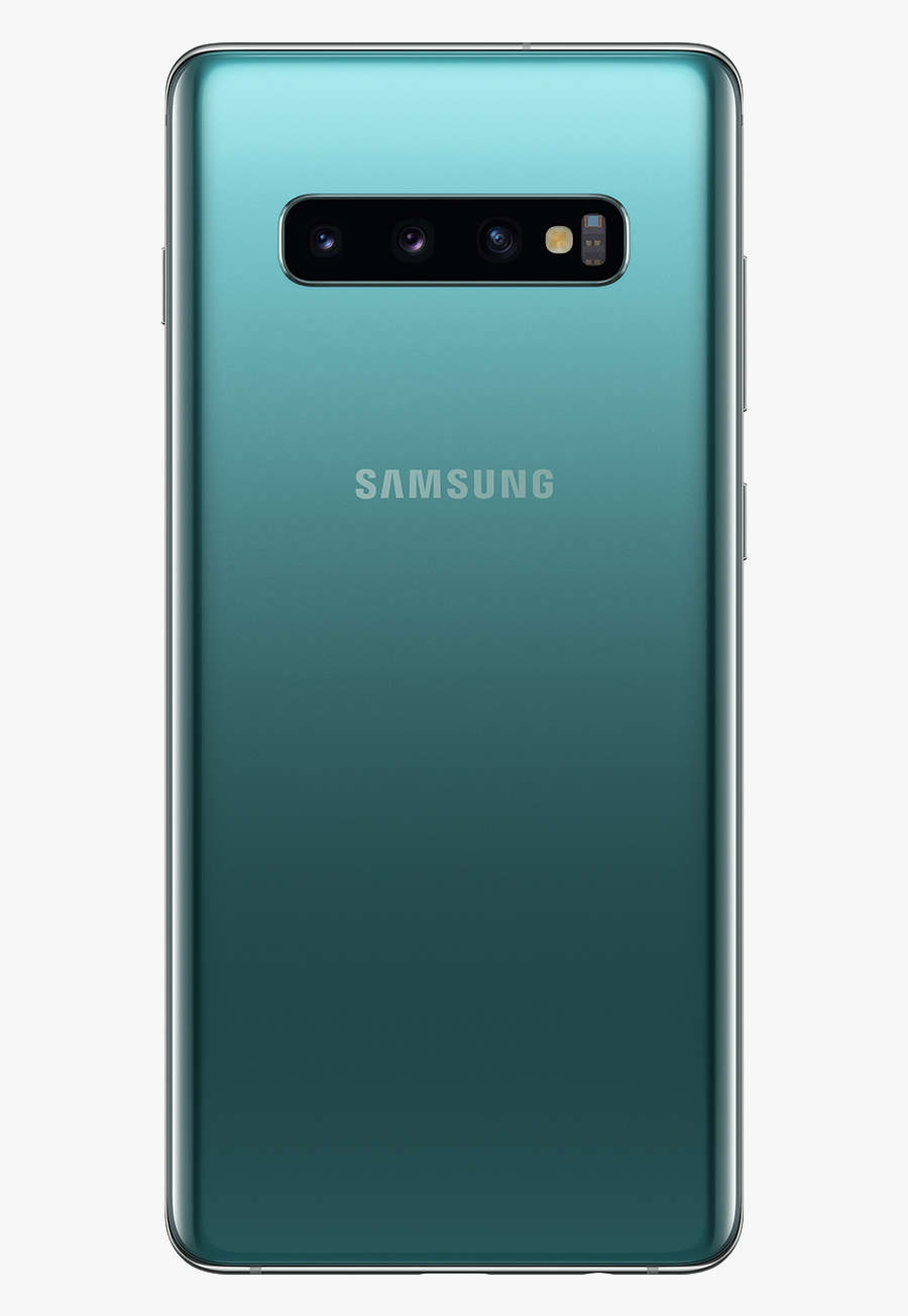 Samsung Galaxy S10 Prism Green Back Png Image.