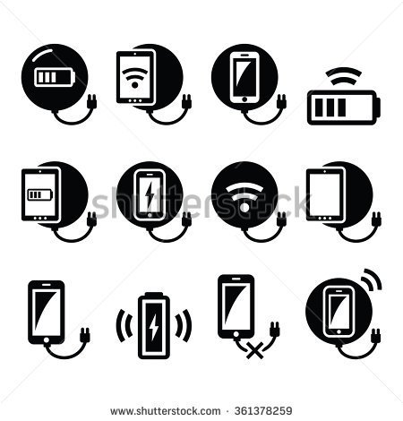 Smartphone Wireless Charging Clipart.