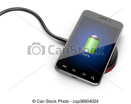 smartphone wireless charging clipart #12