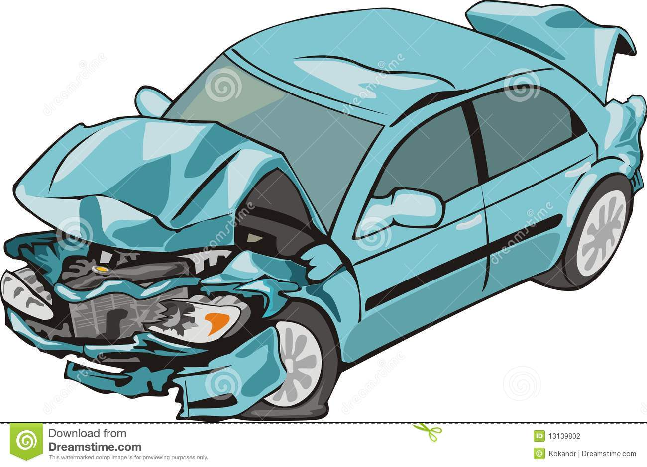 Crashed car clipart 1 » Clipart Station.