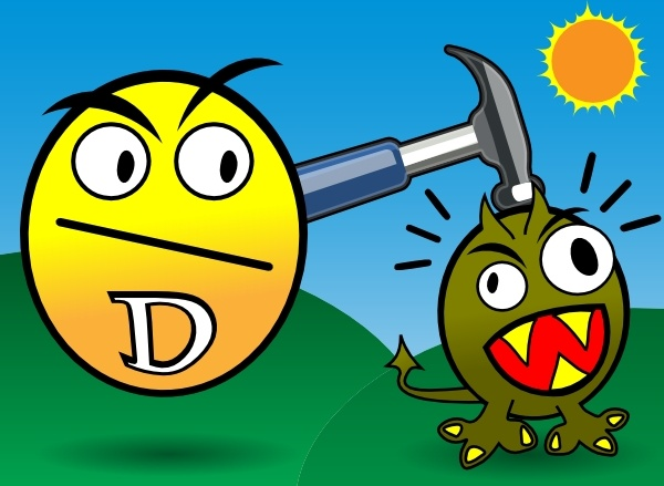 Vitamin D Smashes Cancer clip art Free vector in Open office.