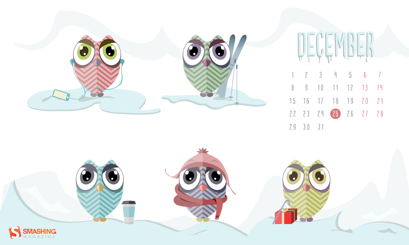My December wallpaper has been featured in Smashing Magazine.