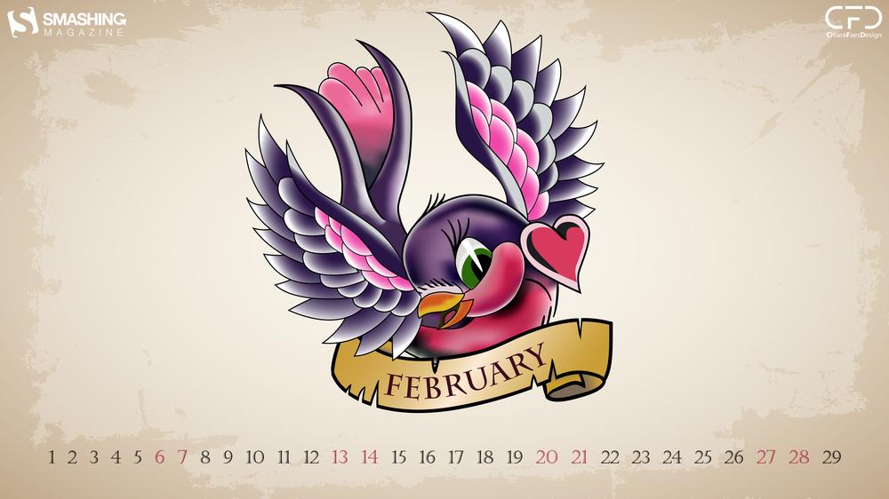 Download Smashing Magazine Desktop Wallpaper Calendar February.