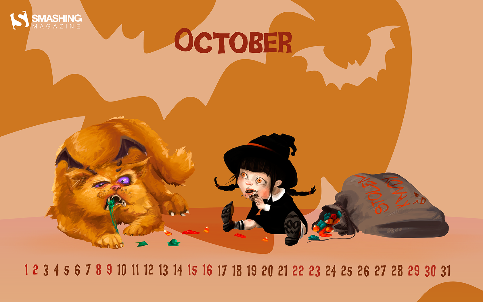 Desktop Wallpaper Calendars: October 2016.