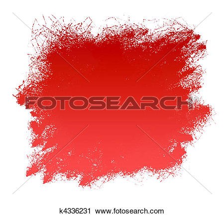 Clipart of Red Grunge Paint Smear Background k4336231.