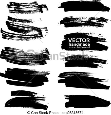 Vectors Illustration of Big set vector drawing a clear black.