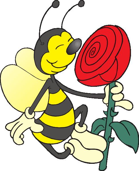 Bee Smelling Flower Clip Art at Clker.com.