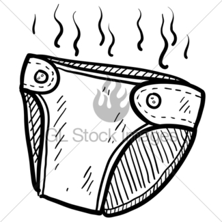 Smelly Diaper Clipart.