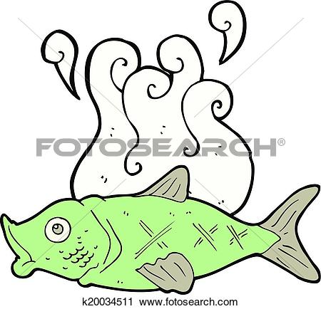 Clipart of cartoon smelly fish k20034511.