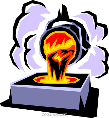 Smelter Royalty Free Vector Clip Art illustration.