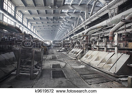 Stock Photo of Electrolytic bath for aluminum smelter k9619572.