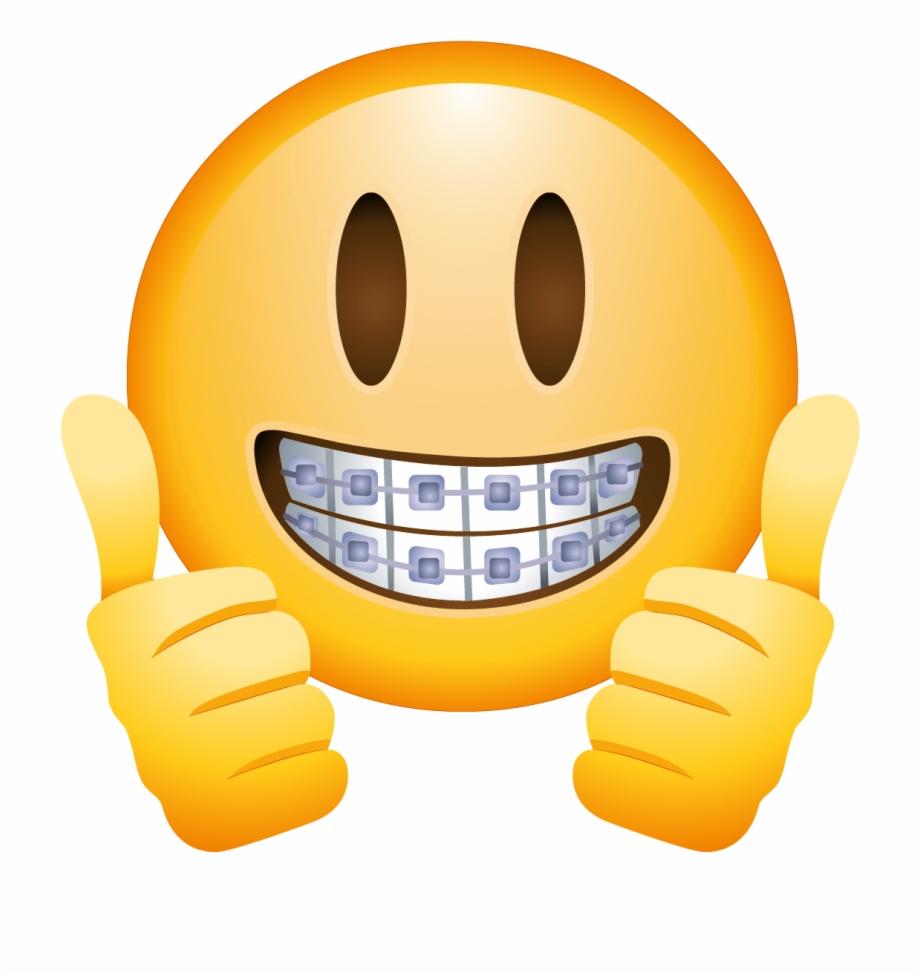 Braces Face Emoji.