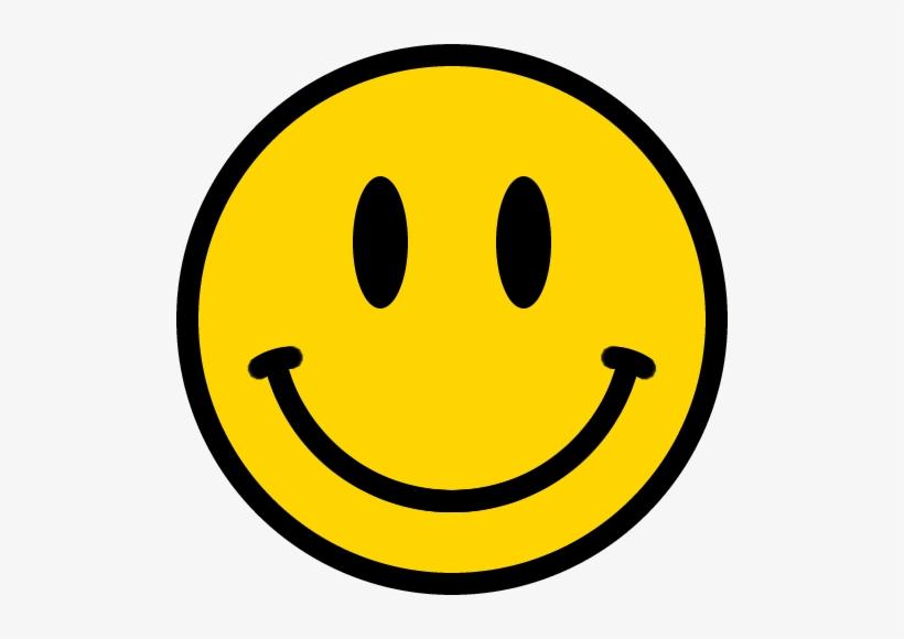 スマイルマークのイラスト<黄色:縁あり> Smiley Smile.
