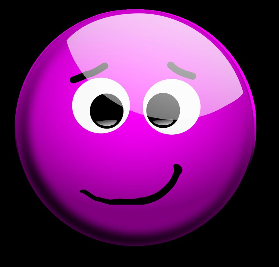 Purple Smiley.