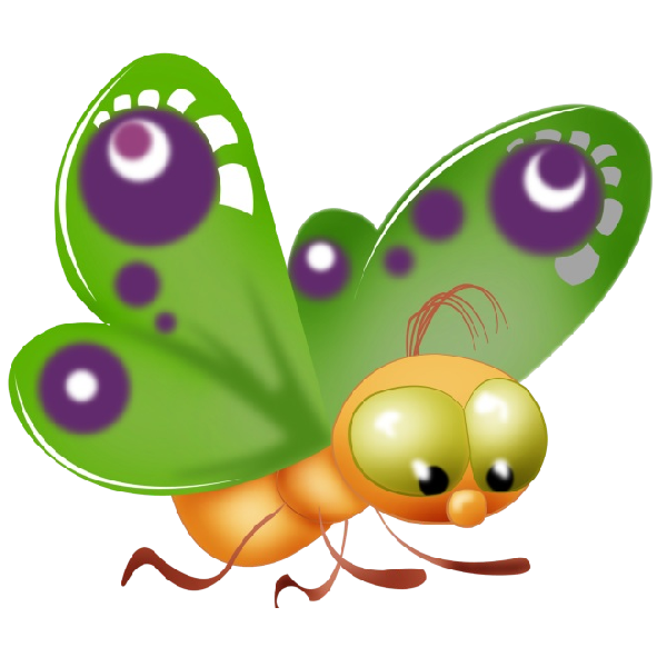 Baby Butterfly Cartoon Clip Art Pictures.All Butterfly Are Om A.