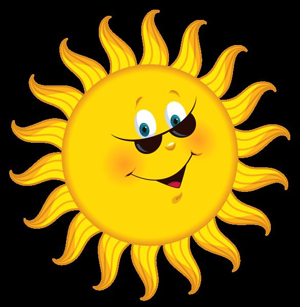 Transparent Cartoon Sun PNG Clipart Picture.