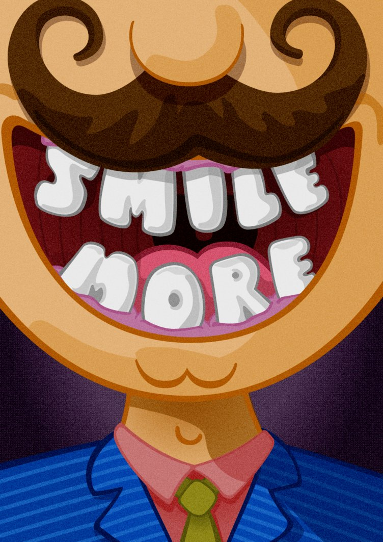 Poster Smile More by gogadze on DeviantArt.