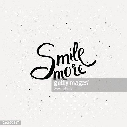 Black Texts for Smile More Concept premium clipart.