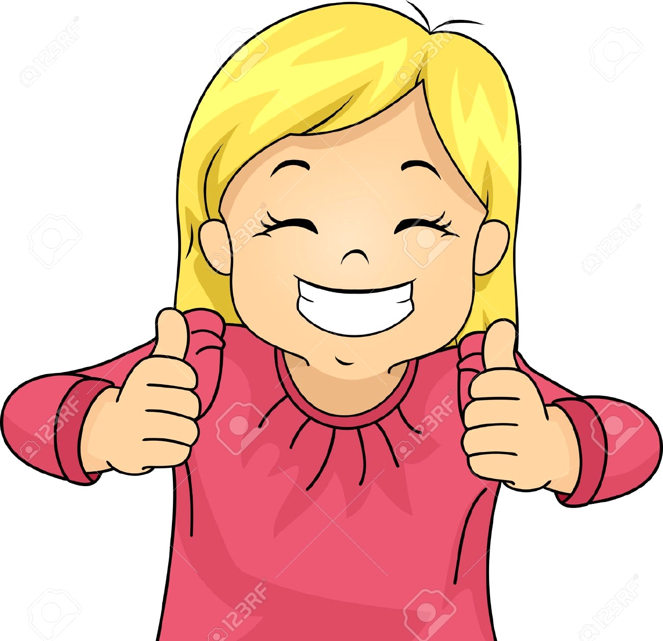 Girl smiling clipart » Clipart Station.