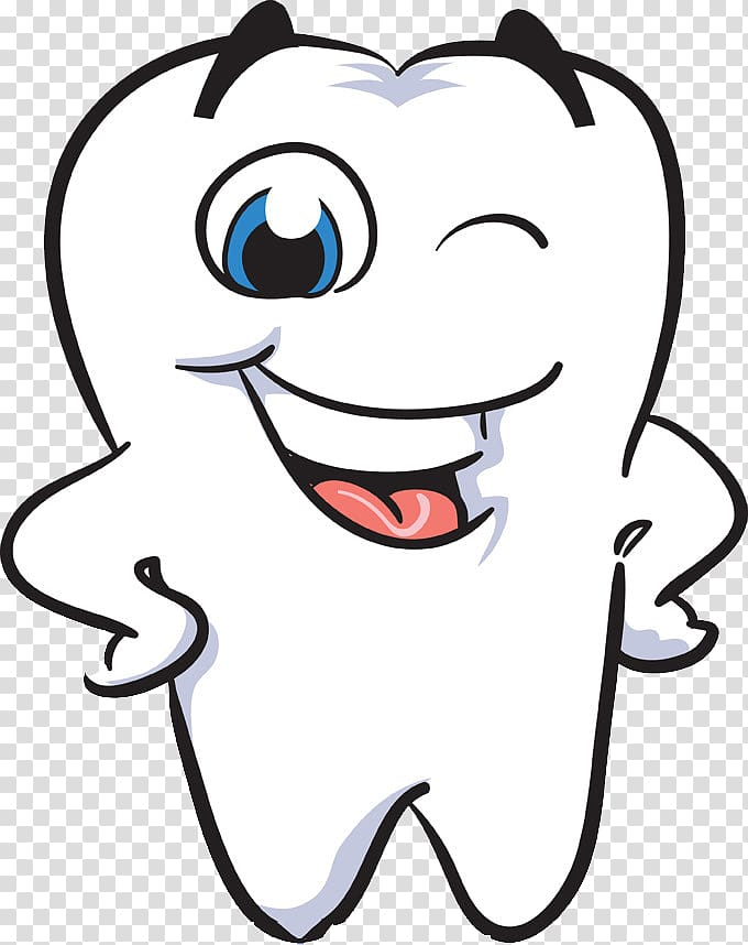 White tooth illustration, Human tooth Smile Dentistry.