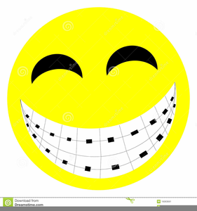 Smile With Braces Clipart.