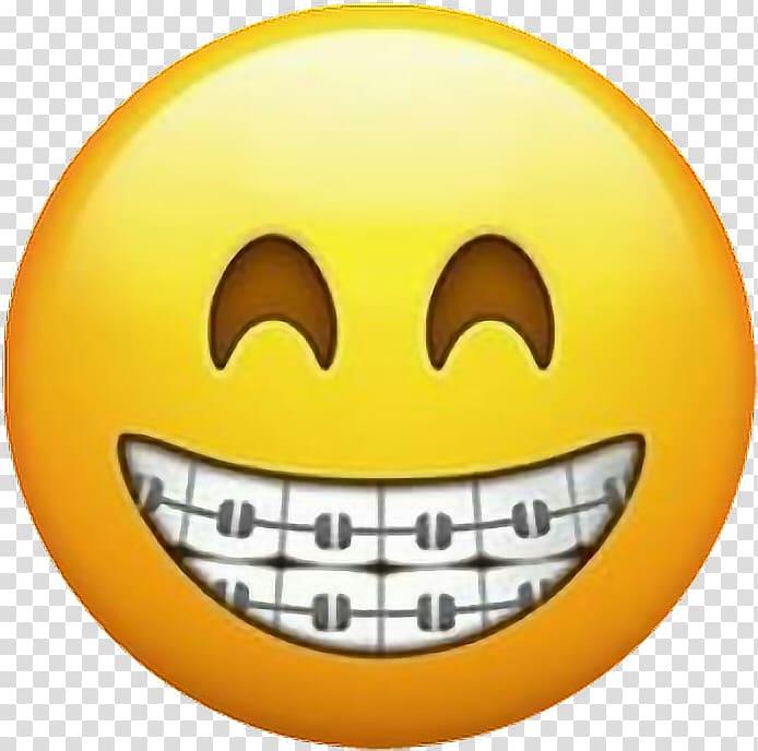 Emoji Dental braces Dentistry Emoticon Sticker, Emoji.