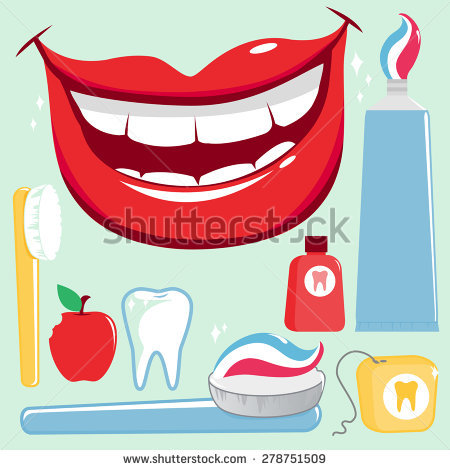 Cartoon Smile Teeth Stock Images, Royalty.