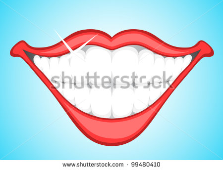 Smile With Food In Teeth Clipart.