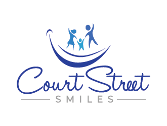 Court Street Smiles logo design.