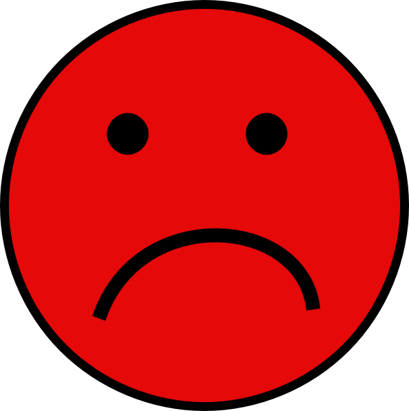 Red Sad Face Clip Art at Clker.com.