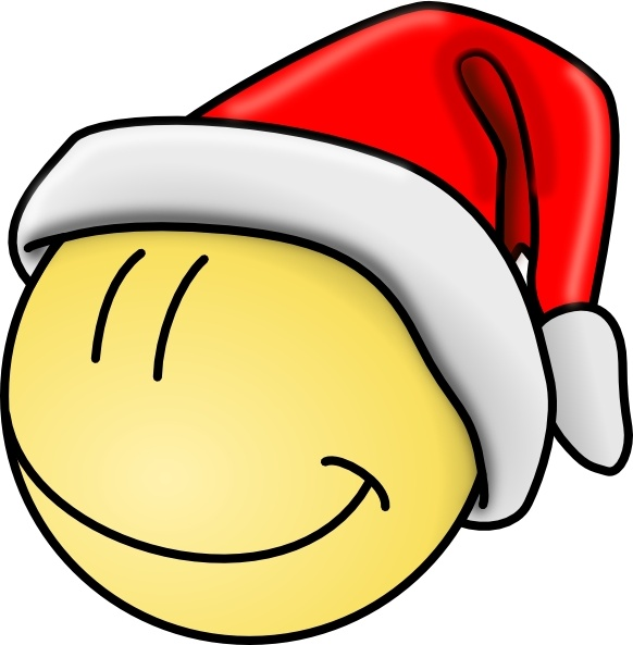 Smiley Santa Face clip art Free vector in Open office drawing svg.