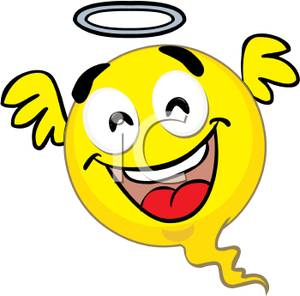 A Smiley Face Angel Clipart Picture.