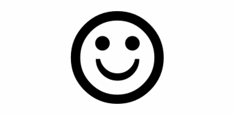 Happy Face Emoji Black And White Copy Free PNG Images.